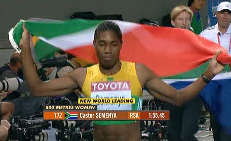 SA 800 mitre Gold Medalist, Semenya 'Caster' Mokgadi